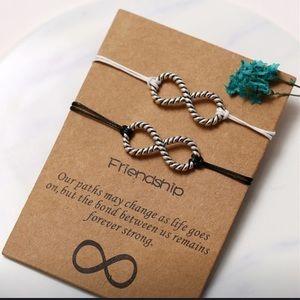Infinity Friendship Bracelets w/Inspirational Card